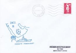 LETTRE FREGATE ASM PRIMAUGUET ZMOI 98 BPM 610 7/7/98 - Marcophilie (Lettres)