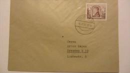 """DDR: Orts-Brief Vom Ersttag Mit 16 Pf """"700 Jahre Frankfurt/O"""" Mit St. Von DRESDEN A43 Vom 6.7.53  Knr: 358 FDC - DDR"""