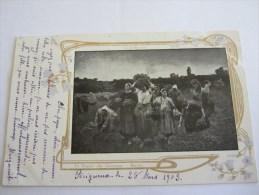 CPA LE RAPPEL DES GLANEUSES BRETON 1903 - Paintings