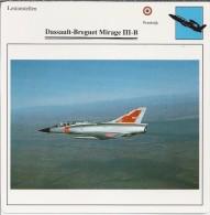Vliegtuigen.- Lesvliegtuig. Lestoestel. Dassault-Brequet Mirage III-B - 2 Scans - Vervoer