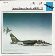 Vliegtuigen.- Lesvliegtuig. Lestoestel. Dassault-Brequet / Dornier ALPHA JET - 2 Scans - Vervoer