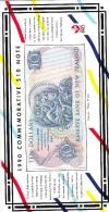NEW ZEALAND P176  10  DOLLARS  1990 COMMEMORATIVE & FOLDER  UNC. - New Zealand