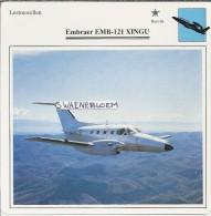Vliegtuigen.- Lesvliegtuig. Lestoestel. Embraer EMB-121 XINGU - 2 Scans - Vervoer
