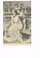 Carte Fantaisie - Femme Et Enfant - PRINTEMPS - V.P. Paris 9045 - Thème Mode Robe épaules Nues - Femmes