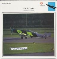 Vliegtuigen.- Lesvliegtuig. Lestoestel. F + W C-3605 - 2 Scans - Vervoer