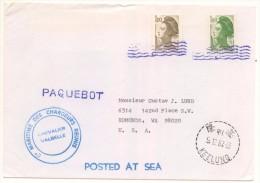 Lettre Du Chevalier Valbelle Postée à La Mer Avec 1F Et 1F60 Marianne De 1987 Oblitéré à Taïwan - Marcophilie (Lettres)
