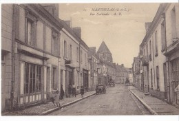 MANTHELAN. - Rue Nationale. Carte RARE - France