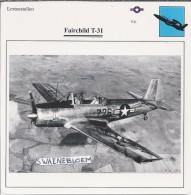 Vliegtuigen.- Lesvliegtuig. Lestoestel. Fairchild T-31 - 2 Scans - Vervoer
