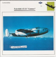 Vliegtuigen.- Lesvliegtuig. Lestoestel. Fairchild AT-21 - Gunner - 2 Scans - Vervoer