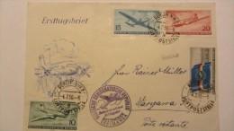 DDR: Ausl-LP-Brief Nach WARSCHAU Mit Luftpost DLH OSt. BERLIN-WARSCHAU Vom 4.2.56 Auf FDC-Umschlag Knr: 512/5 - Briefe U. Dokumente