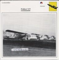 Vliegtuigen.- Lesvliegtuig. Lestoestel. Fokker S-9 - 2 Scans - Vervoer