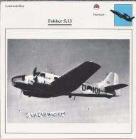Vliegtuigen.- Lesvliegtuig. Lestoestel. Fokker S-13 - 2 Scans - Vervoer