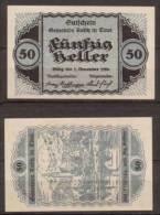 Österreich , Reith In Tirol - Notgeld , 50 Heller - Oesterreich