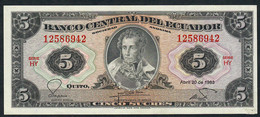 ECUADOR  P108b  5  SUCRES  20.4.1983  ABNC # HY      UNC. - Ecuador