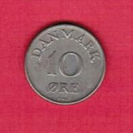 DENMARK  10 ORE 1954 (KM # 841.1) - Dänemark
