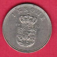 DENMARK  1 KRONE 1970 (KM # 851.1) - Dänemark