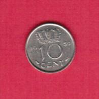NETHERLANDS  10 CENTS 1959 (KM # 182) - [ 3] 1815-… : Kingdom Of The Netherlands