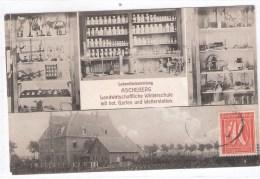 """AK  Ascheberg """" Landwirtschaftliche Winterschule """"    /   Gelaufen  1922  Nach Sachsen Mit Frankatur Auf Bildseite - Ascheberg"""