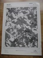 GRAND PHOTO VUE AERIENNE 66 Cm X 48 Cm De 1979  CELLES MOLEMBAIX - Cartes Topographiques