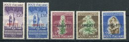 1950 -TRIESTE-RADIODIFFUSIONE+ TABACCO-5VAL.- M.N.H.-LUXE ! - Trieste