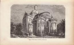 1888 - Gravure Sur Bois - Clermont-Ferrand (Puy-de-Dôme) - L'église Notre-Dame Du Port - FRANCO DE PORT - Estampes & Gravures