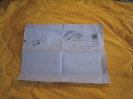 LETTRE ANCIENNE DE 1869. / L. CARCAGNE ET FILS FABRIQUE DE BOUCHONS. / COGOLIN A DRAGUIGNAN. / CACHETS + TIMBRE + 1067 G - 1849-1876: Période Classique