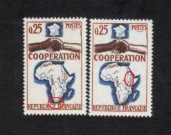 Variétés 1964 ** NEUF ** N°1432 Coopération Afrique , Voir Scanne Et Informations Variété - Varietà: 1960-69 Nuovi