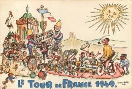 COLMAR LE TOUR DE FRANCE 1949  ILLUSTRATEUR NOACK - Colmar