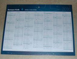 Calendrier 2016 Calendar Type BANQUE KOLB FRANCE - Grand Format : 2001-...