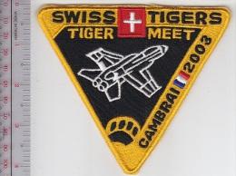 NATO Tiger Meet NTM France 2003 Cambrai Airbase 2003 Swiss Air Force Tigers Squadron 12 EURO - Ecussons Tissu