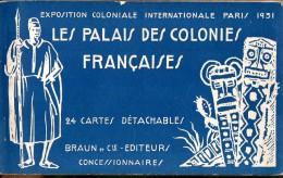 Carnet Complet De 24 Cartes De L'Exposition Internationale De Paris 1931. Braun Et Cie. Editeurs. - Autres