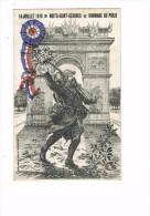 21 Côte D´Or Nuits Saint Georges - Militaria Patriotique Arc De Triomphe Hommage Au POILU 14 Juillet 1919 Soldat Fusil - Heimat