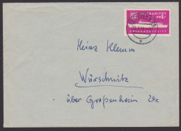 DDR FDGB Urlauberschiff Solidaritätsmarke Zu 5,- DM, Ungültige Marke Als Porto Verwendet U. Befördert Dresden Würschnitz - Maritime