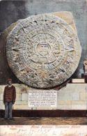 MEXICO CITY MEXICO MUSEO NACIONAL CALENDAR AZTECA~J K 32 REGIST POSTCARD 1908