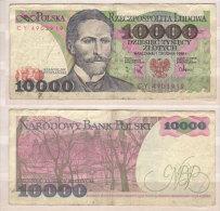Polen , 10000 Zlotych , 1985 , P-151 B , VG - Polen