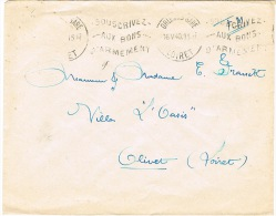 O.MEC KRAG ORLEANS SOUSCRIVEZ AUX BONS D'ARMEMENT SUR LETTRE EN FRANCHISE MILITAIRE MAI 40 - Marcophilie (Lettres)