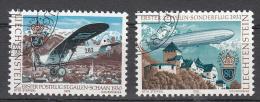Liechtenstein 1979 Mi Nr 723 - 724 Compleet Postgeschiedenis Met Plane AC-8 + Zeppelin - Liechtenstein
