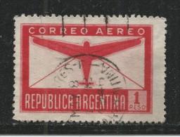 Argentina 1951. Scott #C61 (U) Plane And Letter * - Poste Aérienne