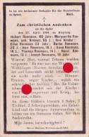 Guerre 40/45 Bleyberg Plombières Montzen  Victimes Du Bombardements Du 27 Avril 1944 - Obituary Notices
