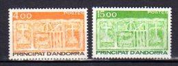 ANDORRE FRANCAIS     Neuf **    Y. Et T.    N° 346 / 347    Cote: 7,60 Euros - Andorre Français