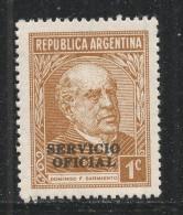 Argentina 1940 Scott #O37 (MNH) Domingo F. Sarmiento - Argentine