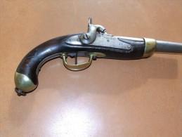 Pistolet 1er Empire Transformé à Percussion - Militaria