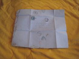 LETTRE ANCIENNE DE 1869. / E. MARCELLIER CHEYSSAC. / ST BONNET LE CHATEAU A MARINGUES. / CACHETS + OBLIT. 3530 GC + TIMB - Postmark Collection (Covers)