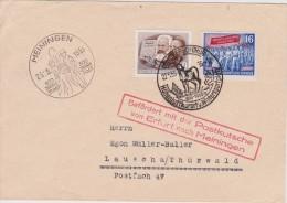 DDR   1953 LETTRE DE MEININGEN CAACHET ILLUSTRE - DDR