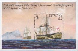 Gibraltar MNH Neptune Ship SS - Schiffe