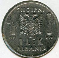 Albanie Albania 1 Lek 1939 R KM 39 - Albania