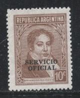 Argentina 1938 Scott #O44 (MNG) Bernardino Rivadavia - Argentine