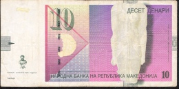 MACEDONIA  P14h  10  DENARI  2008  AVF - Macedonia