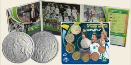 """Set Of Slovak Euro Coins 2010 """"Football World Championship In South Africa 2010""""."""