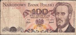 POLAND  P143b   100  ZLOTYCH  1976 #AR   FINE - Poland